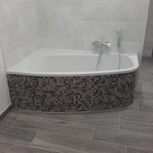 Salle de bains Baignoire Asymétrique