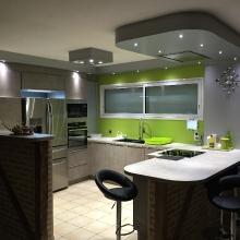 Electricité éclairage led cuisine incorporée
