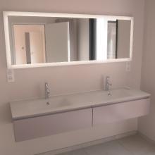 Salle de bains - Meuble et miroir lumineux